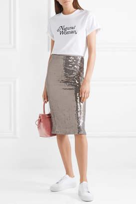 Alice + Olivia Alice Olivia - Rue Sequined Chiffon Skirt - Silver