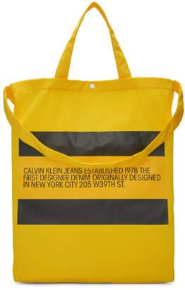 Calvin Klein Jeans Est. 1978 Yellow Small Logo Tote
