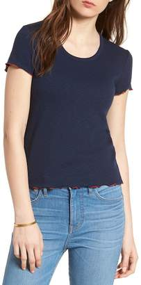 Madewell Scoop Neck Lettuce Edge Tee