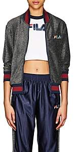 Fila Women's Logo Sparkly Bomber Jacket-Dark Gray