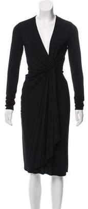 Gucci Draped Midi Dress