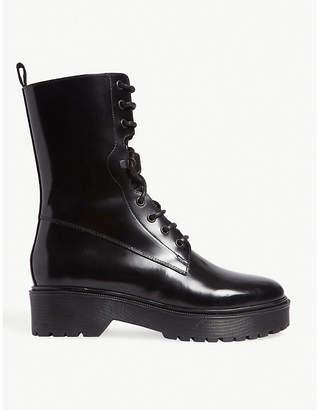 Maje Flat leather boots