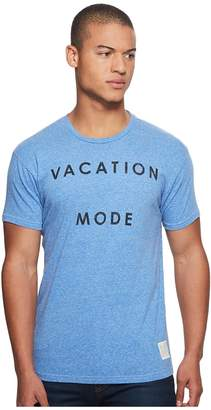 Original Retro Brand The Vacataion Mode Short Sleeve Tri-Blend Tee Men's T Shirt