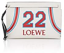 Loewe Women's T Leather Pouch - White