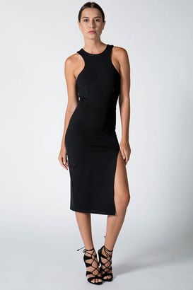 Donna Mizani - Racer Front Midi Dress $192 thestylecure.com