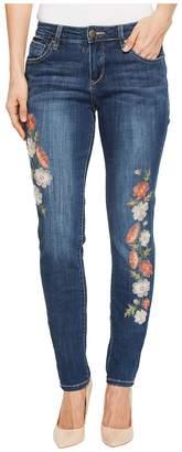 Jag Jeans Sheridan Skinny Jeans w/ Embroidery in Thorne Blue Women's Jeans