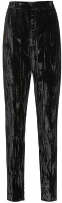 Saint Laurent High-rise skinny velvet pants