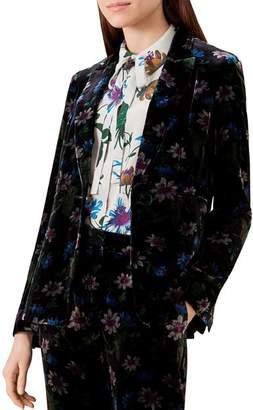 Hobbs London Passionflower Velvet Blazer