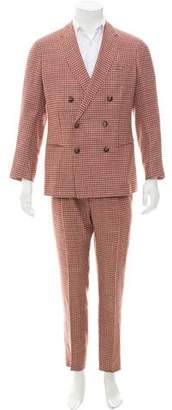 Emporio Armani Houndstooth Double-Breasted Suit w/ Tags