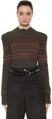 Etoile Isabel Marant Lurex & Wool Jacquard Sweater