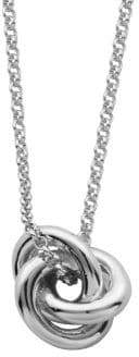 Lord & Taylor Sterling Silver Knot Necklace