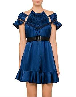 Self-Portrait Arrow Trim Mini Dress