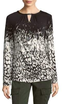 Calvin Klein Graphic Long-Sleeve Blouse