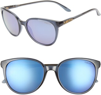 Smith Cheetah 54mm Mirrored Round Sunglasses