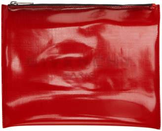 Givenchy (ジバンシイ) - Givenchy レッド トランスルーセント ラージ ロゴ ポーチ