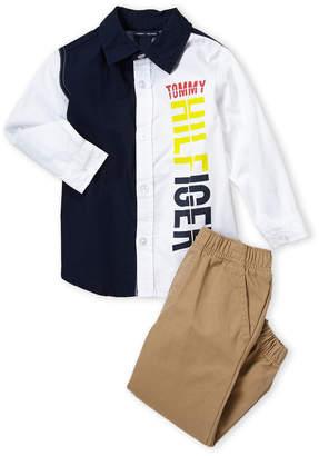3c0c163726a50 Tommy Hilfiger Toddler Boys) Two-Piece Shirt & Jogger Set