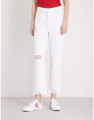 NOBODY DENIM Charlotte Ankle straight high-rise jeans