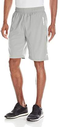 Head Men's Break Point Mesh Insert Workout Gym & Running Shorts w/Elastic Waistband & Drawstring