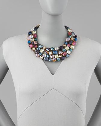 Nakamol Multi-Crystal Statement Necklace