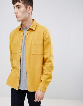 Asos DESIGN overshirt in mustard