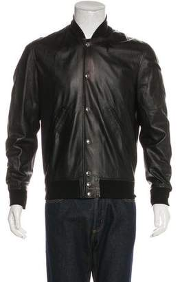 Givenchy Star Leather Bomber Jacket
