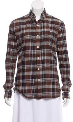 Todd Snyder Plaid Button-Up Top