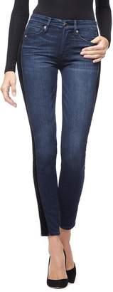 Good American Good Waist Velvet Tuxedo Stripe Skinny Jeans
