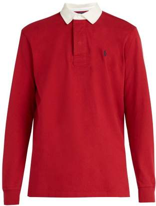 Polo Ralph Lauren Logo Embroidered Cotton Rugby Shirt - Mens - Red