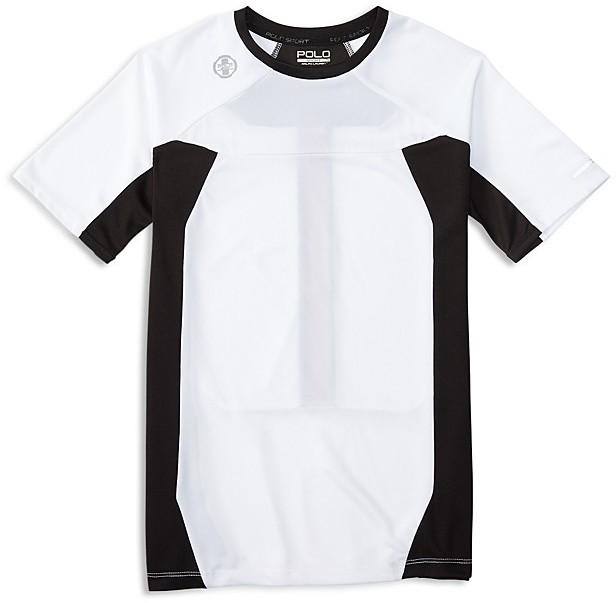 Ralph Lauren Childrenswear Boys' Pieced Performance Tee - Sizes S-XL