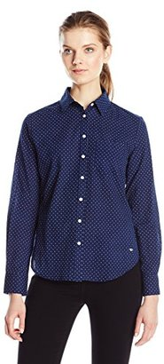 Dockers Women's Essential Perfect Pattern Relaxed Fit Boyfriend Shirt $12.11 thestylecure.com