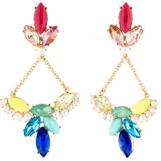 Lulu Frost aux Pearl & Crystal Drop Earrings $95 thestylecure.com