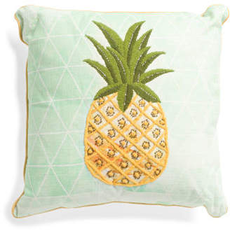 Made In India 18x18 Pineapple Pillow