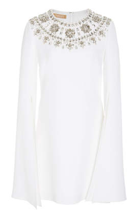 Michael Kors Long Sleeve Embroidered Dress
