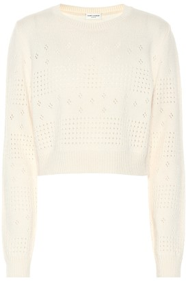 Saint Laurent Wool-blend cropped sweater