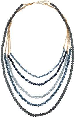 Greenbeads Five-Strand Midnight Blue Statement Necklace