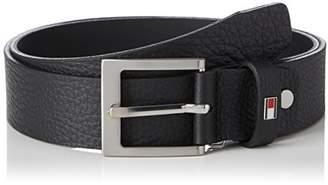 ... Tommy Hilfiger Men s Grainly Leather Belt 3.5 Adj (Black 002), (Size  a0ef5b74396