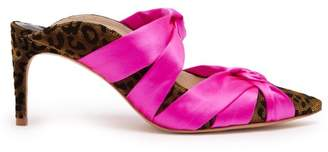 Sophia Webster Violette Leopard Applique Mules - Womens - Pink Multi