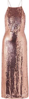 Jason Wu Open-back Sequined Georgette Midi Dress