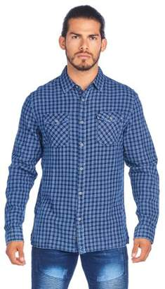 Ladrft Men's Denim Button Down With Enzyme Wash