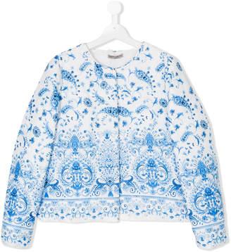 Ermanno Scervino TEEN floral print jacket