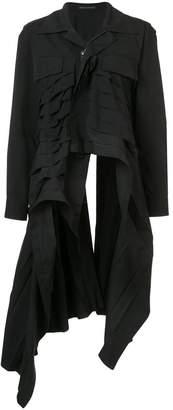 Yohji Yamamoto pleated coat