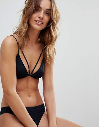 French Connection Ribbed Bikini Top
