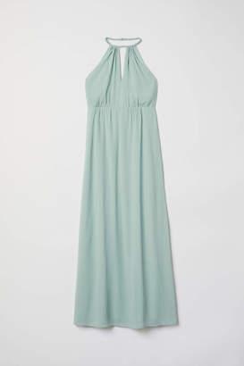 H&M Chiffon Halterneck Dress - Mint green - Women