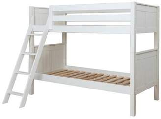 Ace Bayou Classic Twin Over Twin Wood Bunk Bed, White