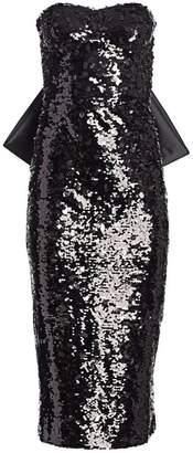 Ahluwalia Vergara Bow-Back Sequin Dress