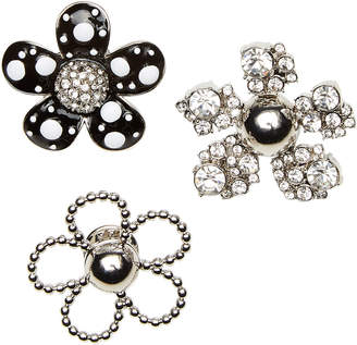 Marc Jacobs Daisy Polka Dot Embellished Brooch Set