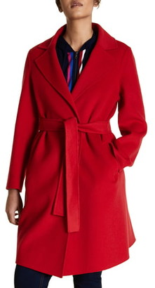 Marina Rinaldi Tabor Belted Wool Blend Coat