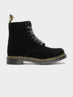 571b3c17a5fcb at Glue Store Dr. Martens Womens 1460 Pascal Velvet Lace-Up Boots in Black
