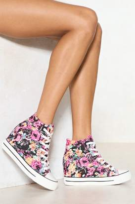 Nasty Gal Rise to the Occasion Floral High-Top Sneaker