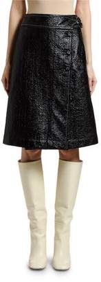 Marni Cotton Coated Tweed A-Line Skirt